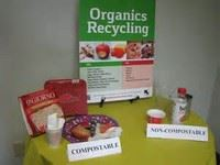 A table with examples of organic waste.