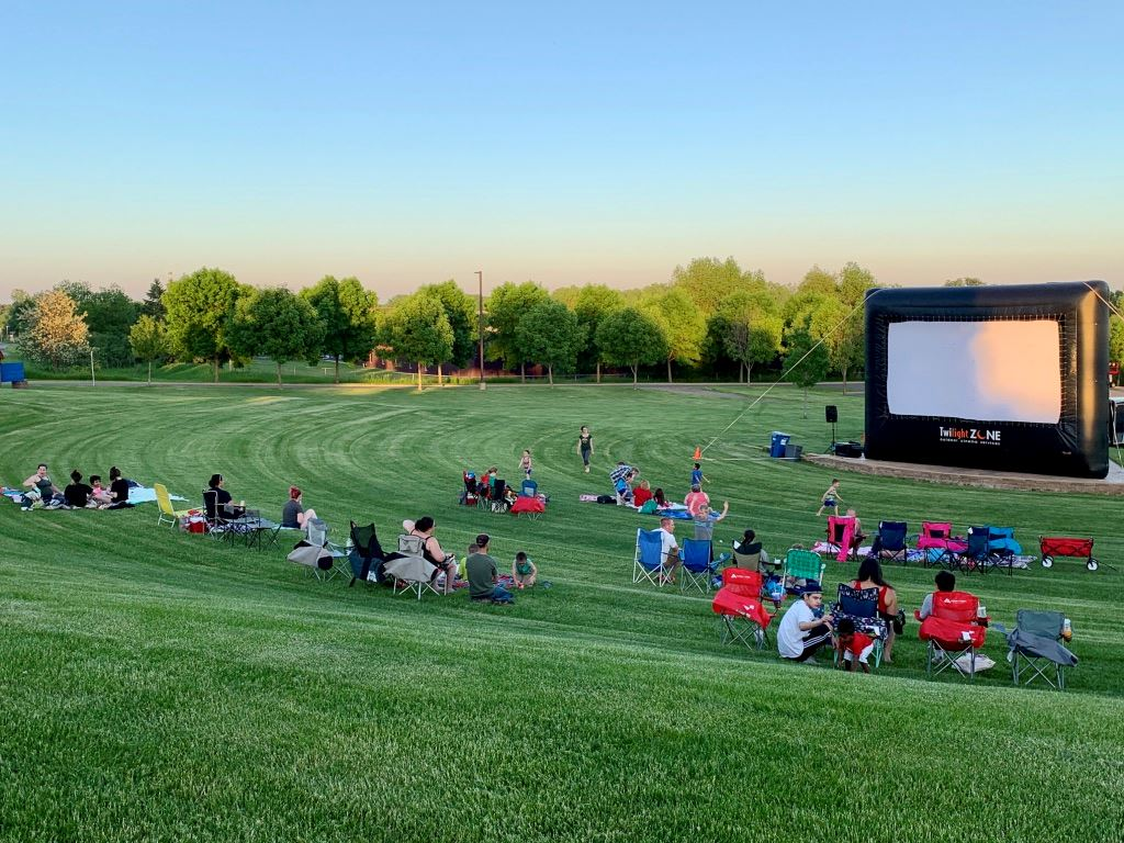 Movie in the Park at Sunset